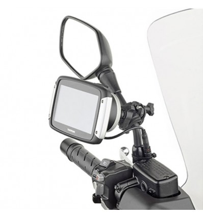 givi sttr40 motorcycle scooter bicycle universal gps tom tom rider 40 400 support for handlebars or. Black Bedroom Furniture Sets. Home Design Ideas