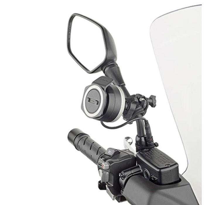 givi support universel sttr40 pour gps tom tom rider 40 400 moto scooter v lo fixation universelle. Black Bedroom Furniture Sets. Home Design Ideas