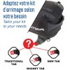 BAGSTER sacoche de réservoir sur tapis ou magnétique BOLTT EVO extensible 15 à 18L - XSR100